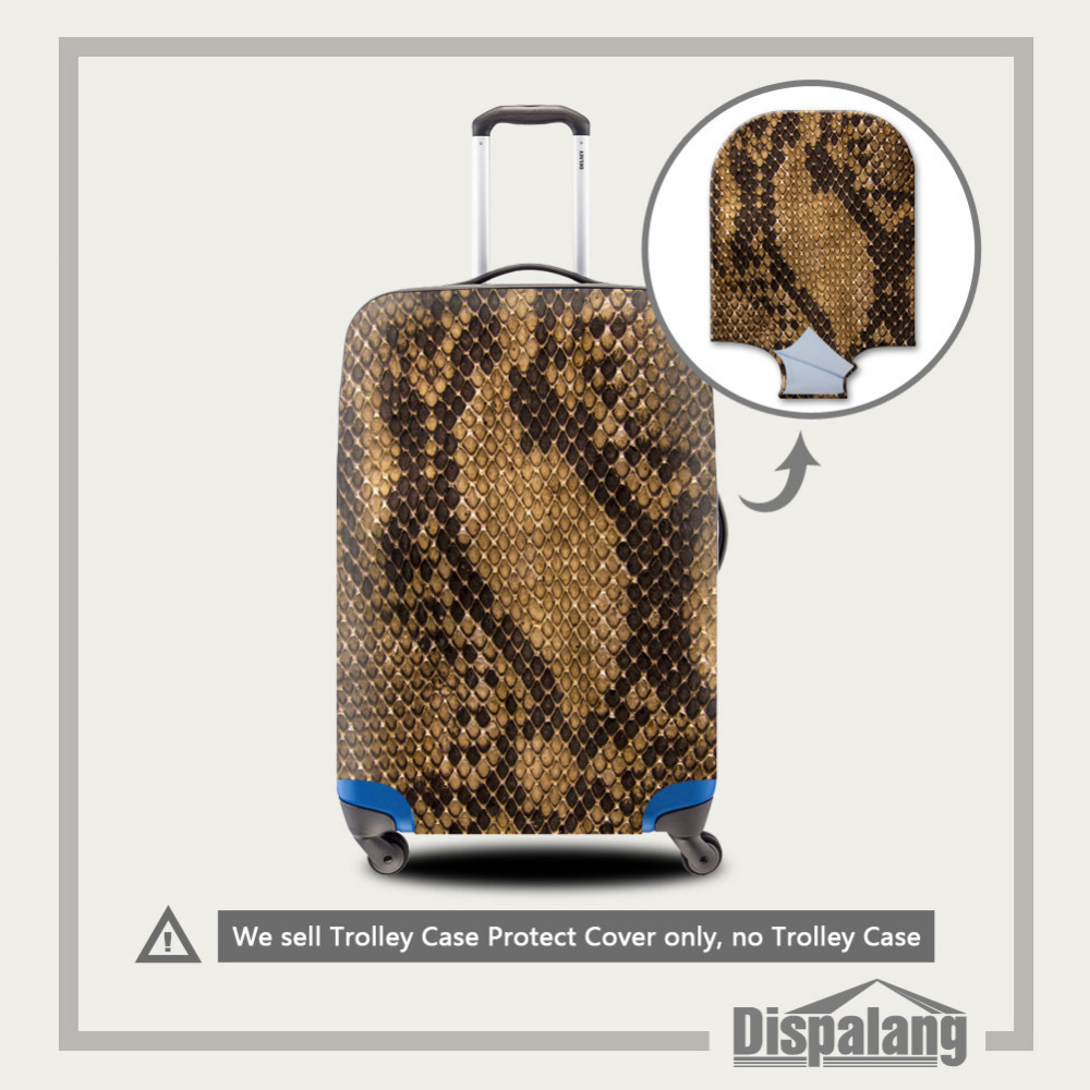 1-5 Perfectly 3D Smiling Face Print Elastic Luggage Protective Covers For 18-30 Inch Case Thick Waterproof Travel Suitcase Cover