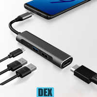 BFOLLOW 4 in 1 DEX Station for Samsung S8 S9 S10 Plus Note 8 9 dex Cable USB C to HDMI Adapter for Huawei Mate 20 P20 Pro