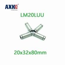 Axk – roulement à billes linéaire Lm20luu, Type Long, 20x32x80mm, 2 pièces