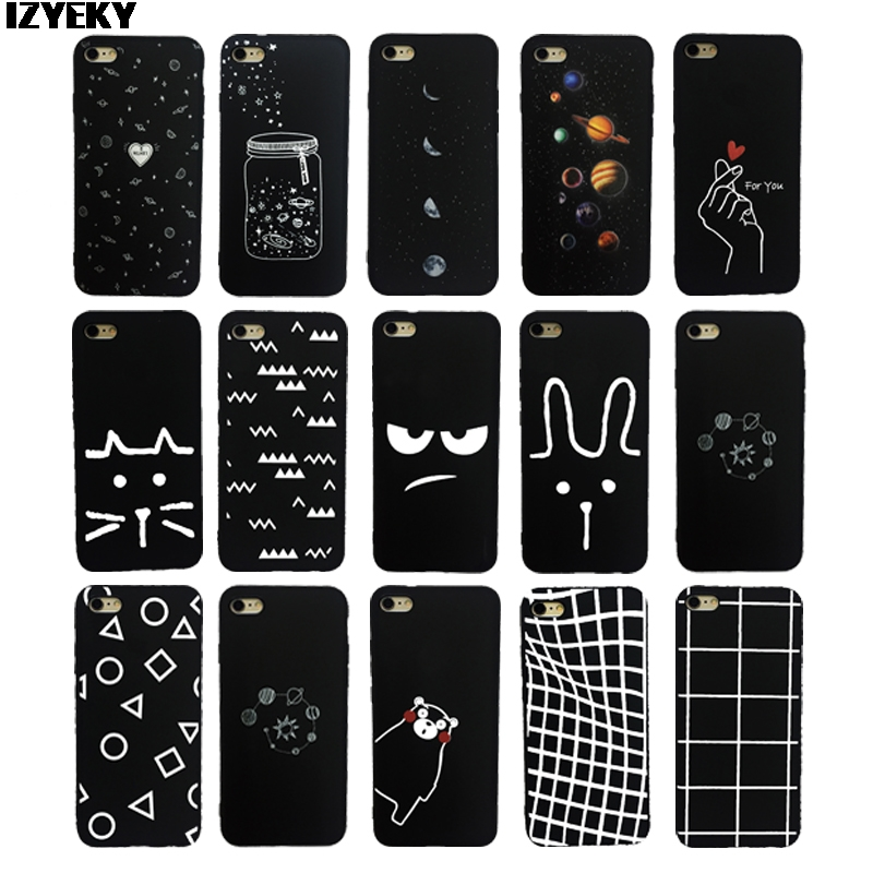 Izyeky Case For Xiaomi Redmi 6 Case Cover Redmi6 Pro Moon Space Animal Bear Cat Silicone Phone Back Cover For Redmi 6a Coque Half-wrapped Case Cellphones & Telecommunications
