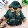 Envío gratis Invierno de la felpa del bebé niños y niñas chaqueta de abrigo acolchado CAPA de Los Niños chaqueta del bebé capa de la muchacha