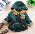O envio gratuito de Inverno do bebê de pelúcia meninos e meninas jaqueta casaco acolchoado casaco jaqueta CASACO bebê da menina das Crianças