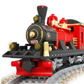 Model Building Kits toys classic train block toys 410pcs boys Toys brinquedo educativo 6 years above