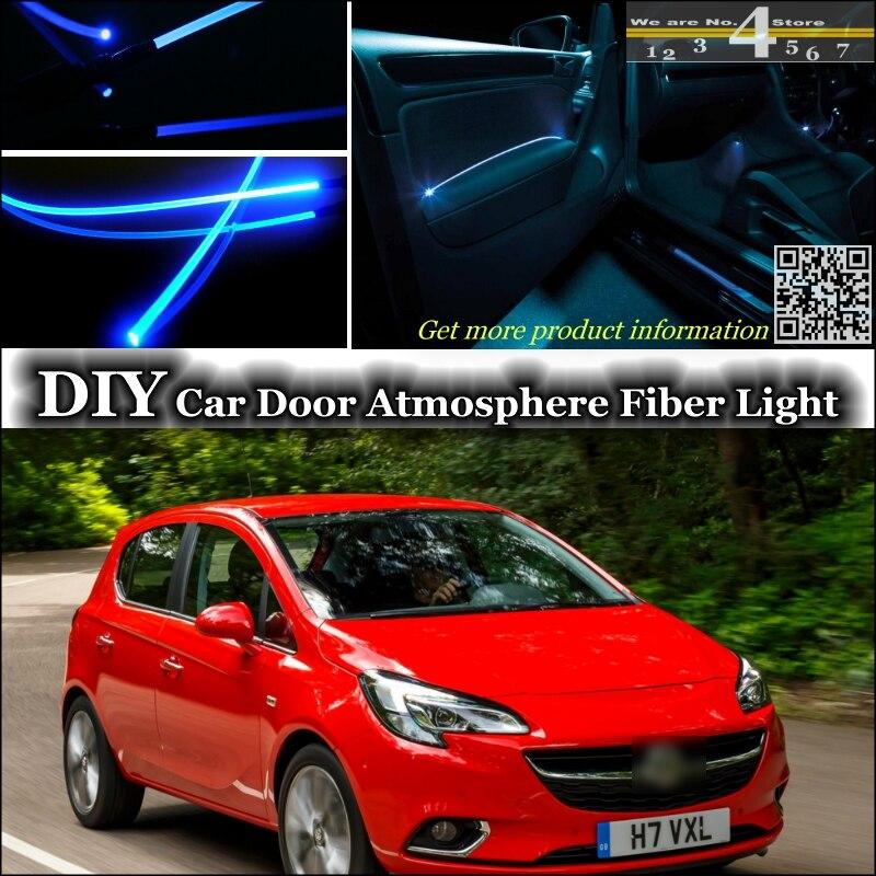 interior Ambient Light Tuning Atmosphere Fiber Optic Band Lights For Vauxhall Corsa A B C D E Inside Door Panel illumination