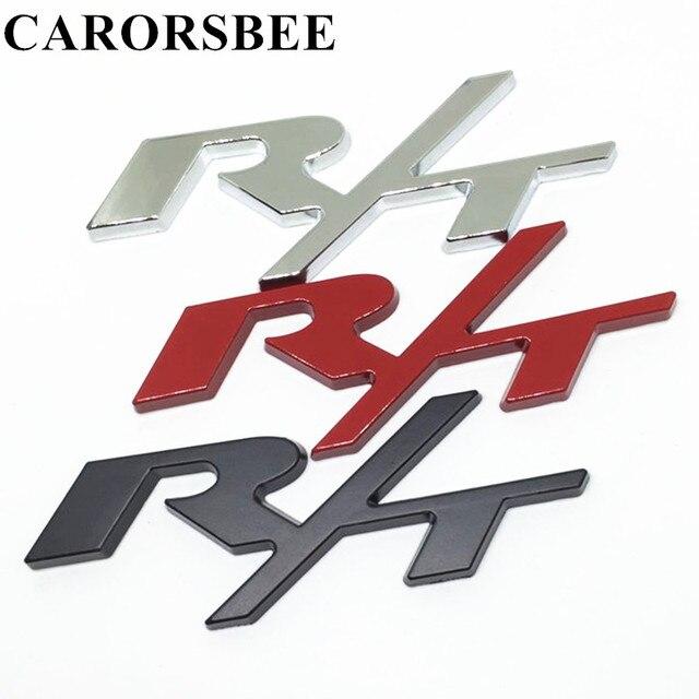 Carorsbee 3d Metalen R T Rt Logo Embleem Badge Decal Auto Sticker