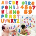 36 PCs Alfanumérico Banho Carta EVA Enigma Crianças Brinquedos Do Bebê Novo Early Educacional Crianças Bath Toy Engraçado