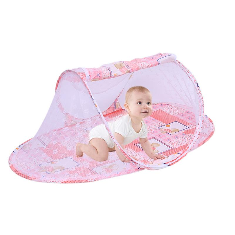 Portable Baby Travel Bed Fold Baby Bed Mosquito Net Netting Play Tent House Baby Baby Crib Mosquito Net Tent Cradle Bed S3