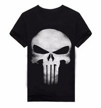 Hot Summer Clothing Skull 3D Print T Shirt Men T-shirts 100% Cotton T-shirt Camiseta Dark Souls Punisher Men Shirts Blouse A150