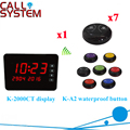 Wireless Buzzer Calling System New Good Fashion Restaurant Guest Caller Paging Equipment( 1 display+7 call button )