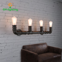 Vintage Metal Rust Water Pipe Wall Lamp E27 Sconce Lights For Living Room Bedroom Restaurant Bar Free Shipping Lamparas De Pared
