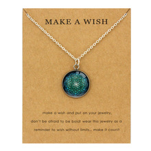 Mandala Mandela Pendants Necklaces Yoga OM Symbol 18mm Glass Cabochon Charm Women Men Girl Unisex Fashion Jewelry Christmas Gift
