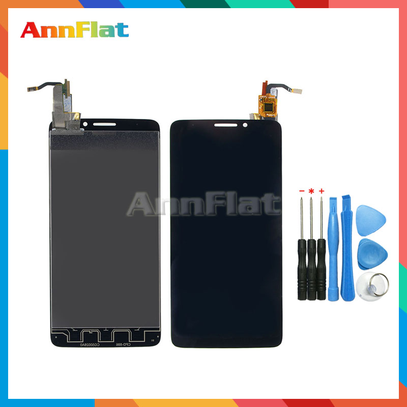 high quality For Alcatel One Touch Idol X OT6040 6040 6040D LCD Display Screen With Touch Screen Digitizer Assembly+Tools
