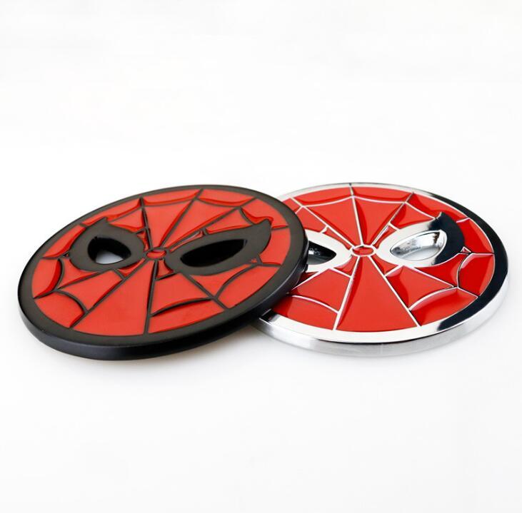 Car Metal Spider Man Face Mask Logo Sticker Auto Emblem Badge Decal Motorcycle