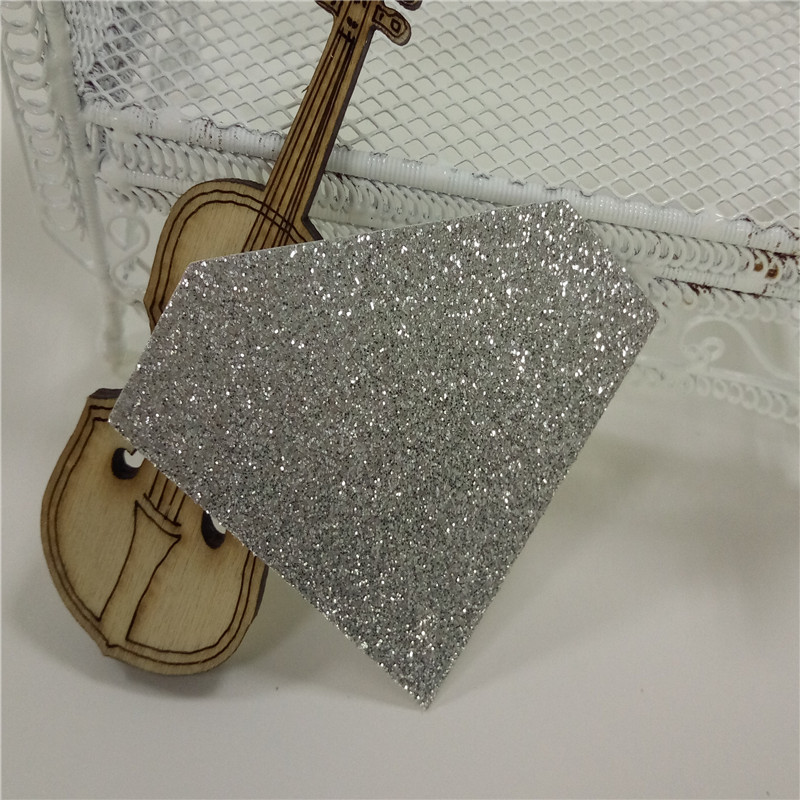 1000piece 1 7 tall diamond die cut of silver glitter paper for paper crafting banner cake
