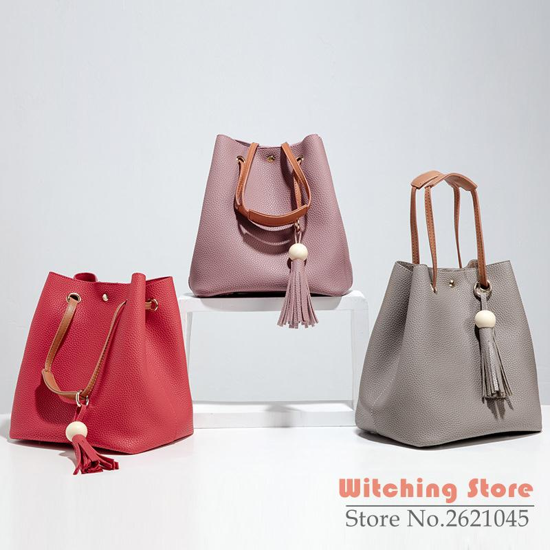 ФОТО Perfect# The trend of 2016 new winter retro simplicity big shoulder portable bucket bag one generation FREE SHIPPING