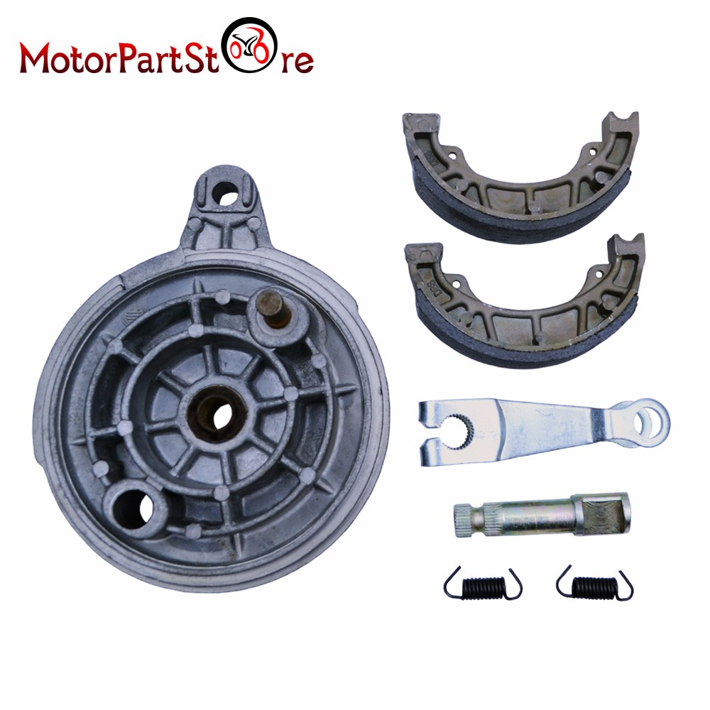 Rear Brake Hub Drum Shoes Pads for Yamaha PW80 PY80 Coyote80 PEEWEE Wheel Cover ATV Motorcycle Dirt Motorbike Part *