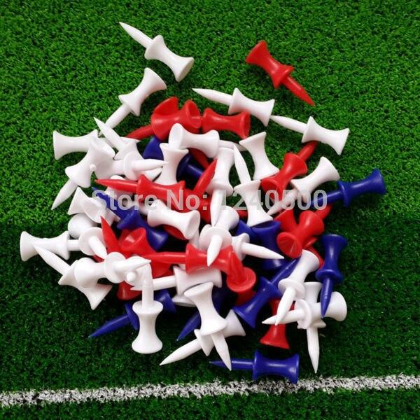 משלוח חינם 100 יח'\שקית מגוון 37mm פלסטיק צעד למטה גולף טיז גובה שליטה, גולף טי