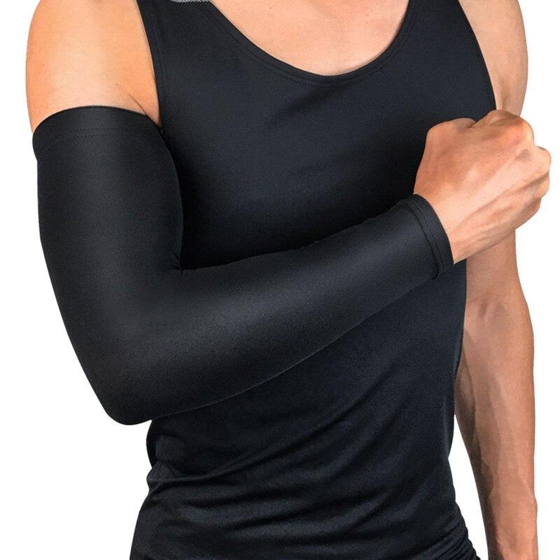 1 adet uzun isıtıcı kol pedleri kol artı boyutu termal nefes sıkıştırma açık sonbahar kış kol isıtıcı yeni