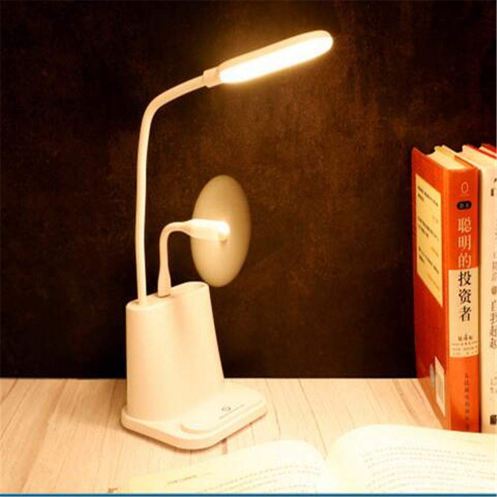 Led table Lamp Desk lamps USB Flexible Reading for Children With phone hoder Creative Intelligent Eye Protection Dormitory