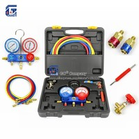 Manifold Gauge Set Diagnostic Tool R12,R22, R404a, R134a for Auto Air Conditioner Refrigerant