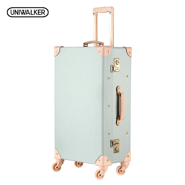 "20"" 24"" 26"" Inches Oxford Travel Trolley Luggage Scratch Resistant Rolling Luggage Bags Suitcase With TSA Lock"