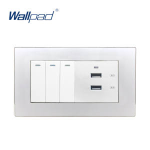 Top 10 most popular iphone wall light switch brands wallpad 63 2 way 2 usb socket usb fast charger for iphone aloadofball Choice Image