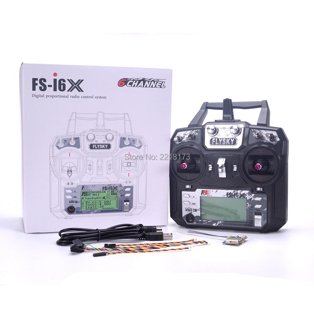 Flysky FS-i6X 2.4GHz 10CH RC Transmitter With i-BUS IA6B X6B A8S IA10B Receiver For RC Heli Quadcopter Airplane model 2 цена