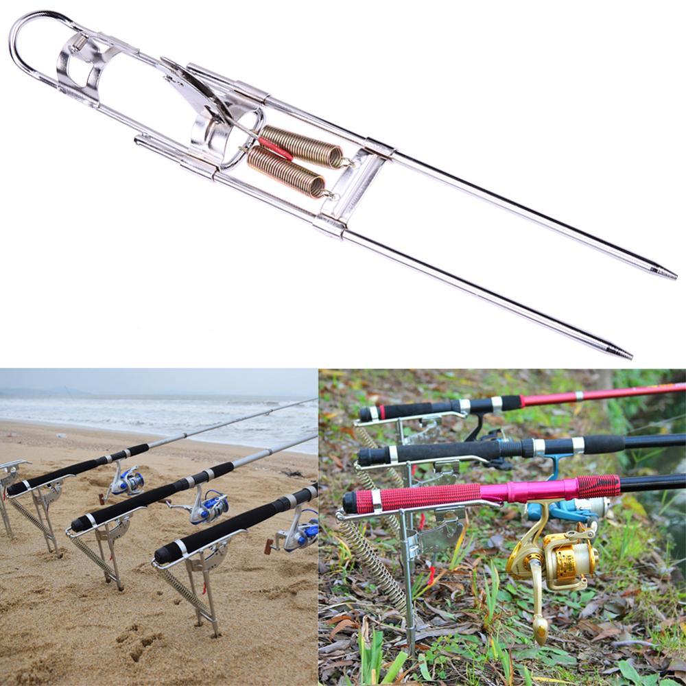Automatische Doppel Frühling Winkel Angelrute Angehen Halterung Anti-Rost Stahl Angeln Halterung Stange Halter Fisch Bekämpfen Pesca Zubehör