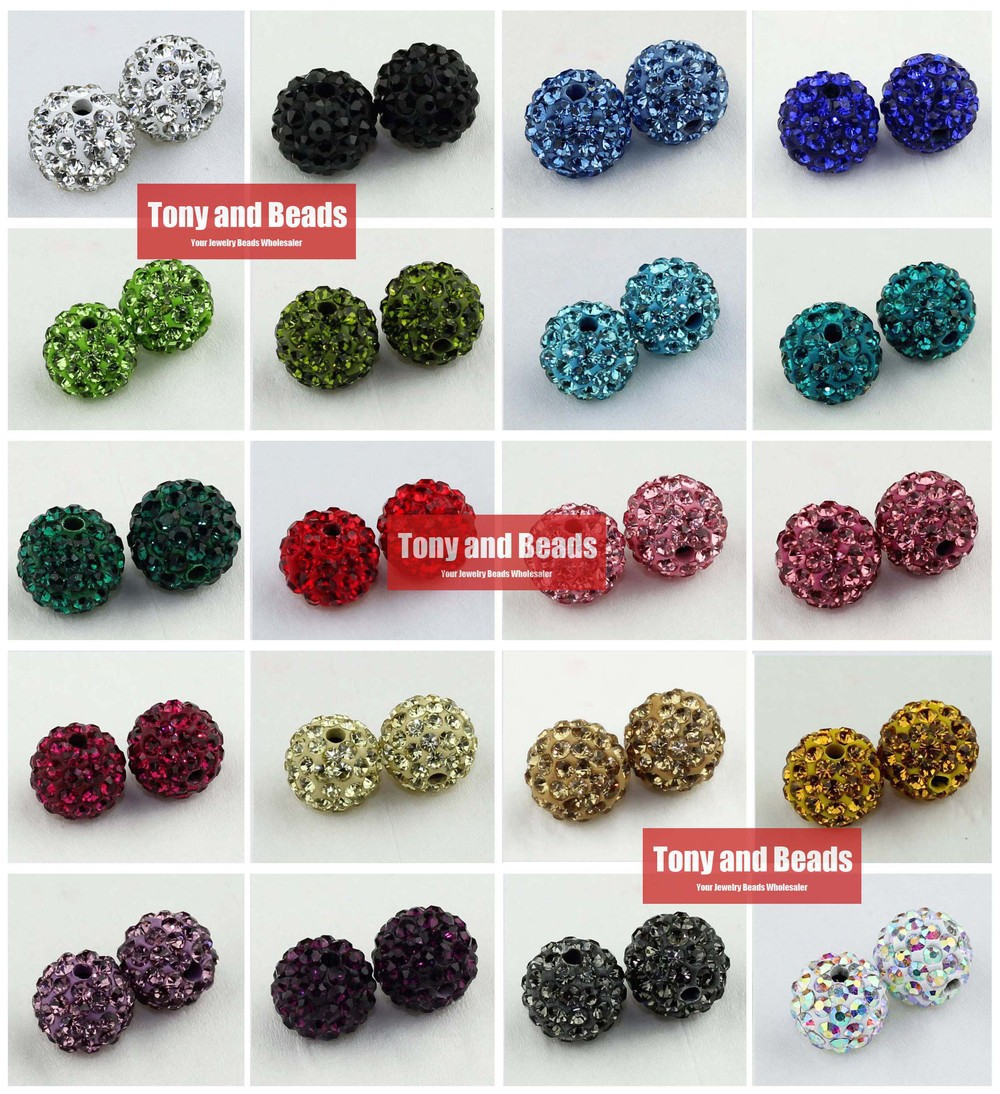 Beads & Jewelry Making 50pcs= Lot ! Free Shipping 12mm Clay Disco Ball Pave Crystal Shamballa Beads Wholesale 25 Colors In Total For Jewelry S3 Delaying Senility