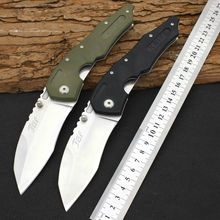 New JGF Folding Knife Survival Knifes 440 Steel Blade G10 Handle Pocket Hunting Tactical Knives Camping Outdoor EDC Tools X10
