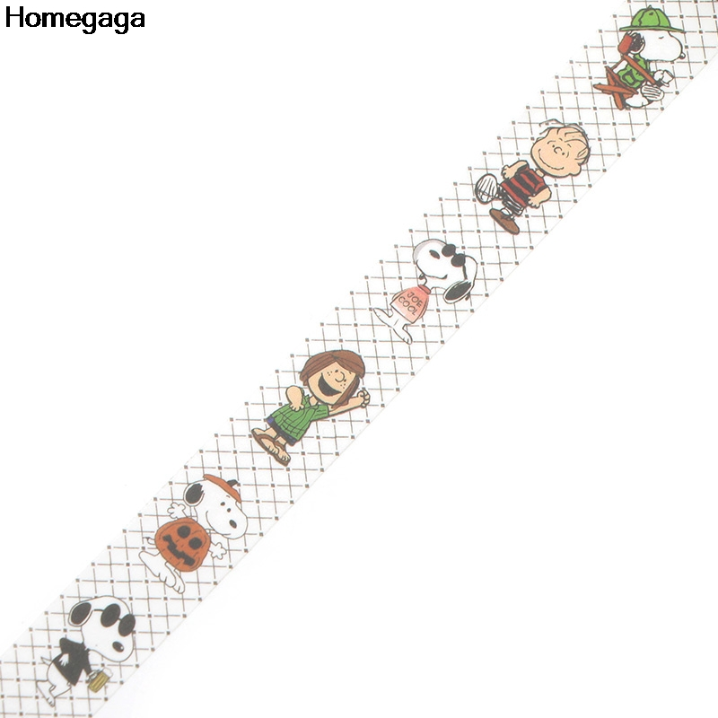 Homegaga cartoon cartoon dogs kids funny Washi tape diy Scrapbooking Adhesive Paper Masking Tape Printed Patterns stickers D1975 in Stickers from Home Garden
