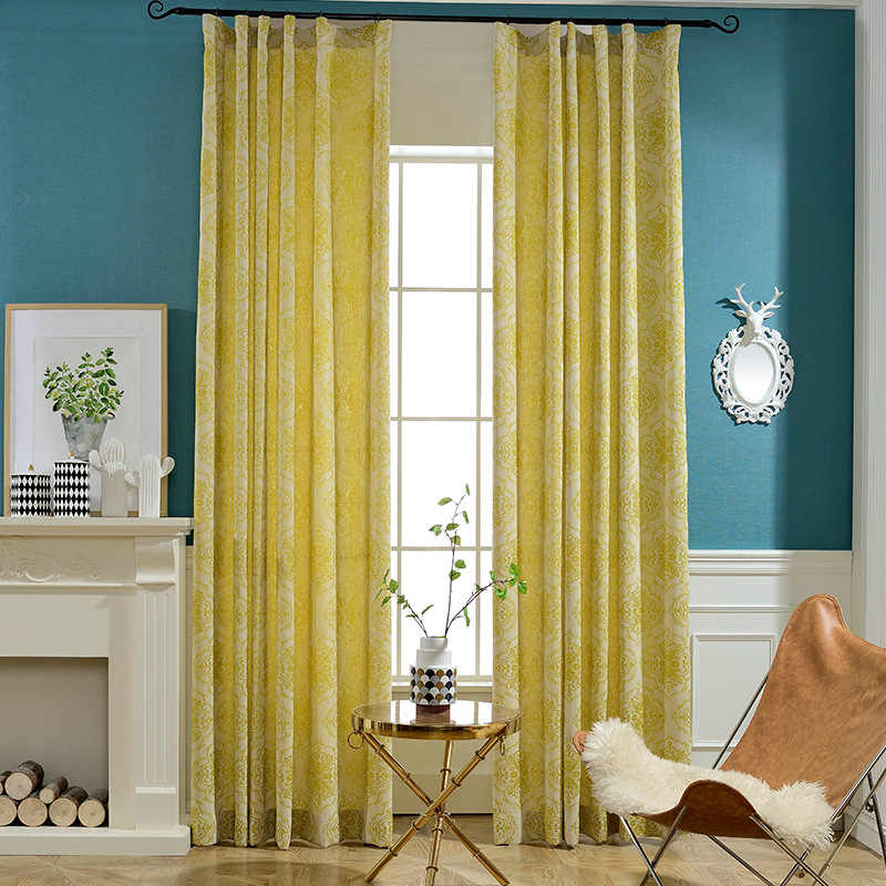 Slow Soul Cortex хлопок и лен желтый зеленый шторы из жаккардовой ткани стиль занавес s для гостиной роскошные французские окна