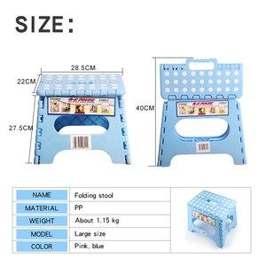 Image 3 - Taburetes de plástico grandes para niños taburete plegable portátil taburete fuerte y duradero taburete portátil para exteriores sillas de espera