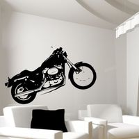 MOTORCYCLE Wall Sticker Motorbike Harley Usa Graffiti Bike Stickers Decal Kids