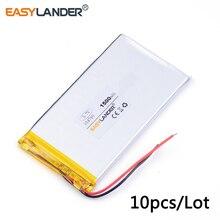 10 개/몫 3.7v 리튬 이온 폴리머 충전식 배터리 354790 1500mAh 태블릿 pc, 보조베터리, pipo