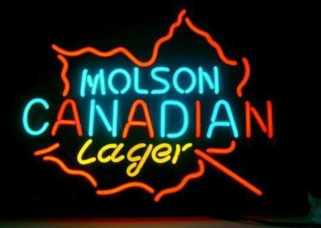 Custom Molson Canadian Lager Neon Light Sign Beer Bar 1