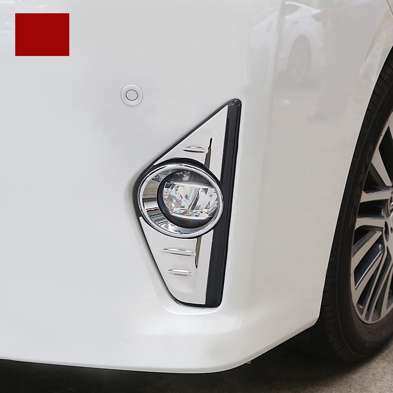 lsrtw2017 car styling stainless steel car front foglight trims for toyota alphard toyota vellfire 2015 2016 2017 2018 2019