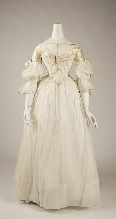 The Costume Institute of the Metropolitan Museum of Art  Victorian dress satin dress