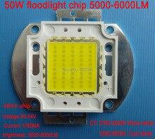 2pcs/lot 45mil Epistar 5000-6000LM COB 50W led floodlight chip integrated light source 30-34V Current 1750MA