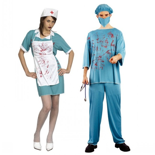 New Adult halloween party Cosplay horror clothes bloody scary girl nurse costume dress and doctor clothes  sc 1 st  AliExpress.com & New Adult halloween party Cosplay horror clothes bloody scary girl ...