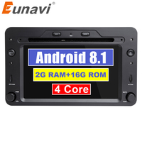 Eunavi Car Multimedia Radio Player 1 din 7'' Auto DVD android 8.1 GPS Navigation For Alfa Romeo mito 2008 Quad Core 2G RAM FM