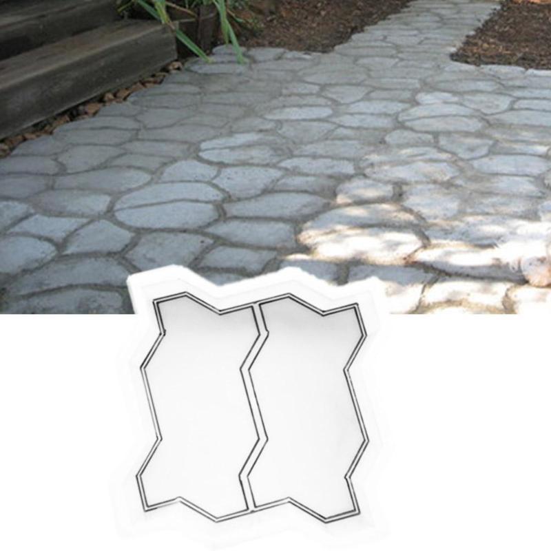 DIY Path MakerConcrete Pavement Mold Paving Cement Brick Stone Road Mould Garden Walk Pavement Mold DIY Manually Paving