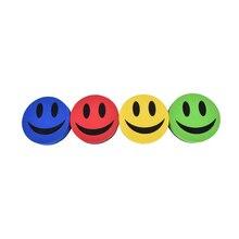 Стильный улыбка лицо 9 см диаметр магнитная доска ластик для доски протирать сухой школы доска очиститель маркера