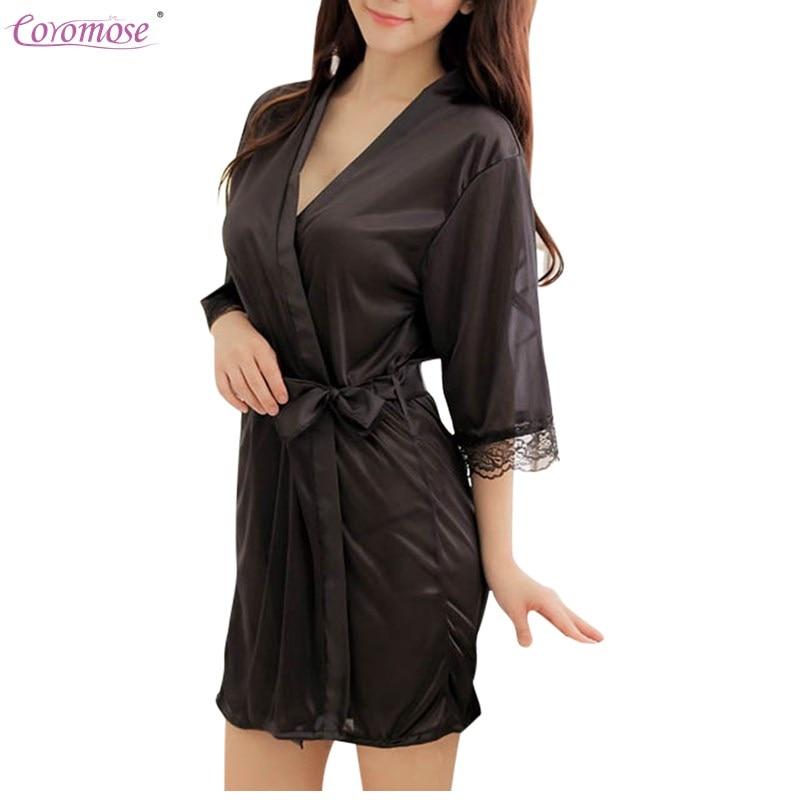Coromose Bademantel Frauen Satin Brautjungfer Robes Vintage Kimono ...
