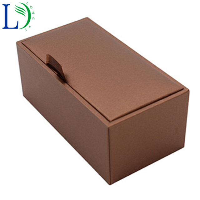 New Jewelry Box Small Leather Paper Materials Package 45mm85mm38mm