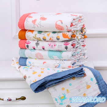6 Layers Super Soft Cotton Muslin Blanket Baby Swaddle Baby Summer Blanket Stroller Cover Bath Towel Baby Receiving Blanket