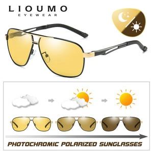 Image 2 - Lioumo marca photochromic óculos de sol polarizados homem óculos de sol dia & noite visão feminina óculos de condução oculos zonnebril mannen