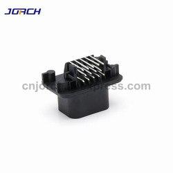 1 zestaw 14pin Tyco AMP TE mężczyzna PCB ECU Auto złącze wtykowe 90 stopni w prawo kąt pinheader 776266  1 krycia części 776273 1 w Złącza od Lampy i oświetlenie na