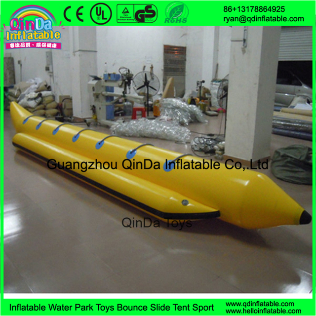 hot sale commercial grade water inflatable banana boat for water game Used Jet Boat For Flying Towables