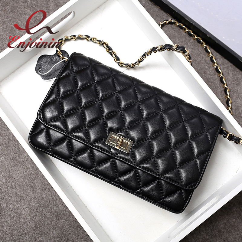 2016 Quilted classic design high quality women's sheepskin chain shoulder bag handbag Genuine Leather female flap ladies purse spanish french russian voice 433 mhz new arrivel 433mhz remote control wireless gsm sms call home security gsm alarm system